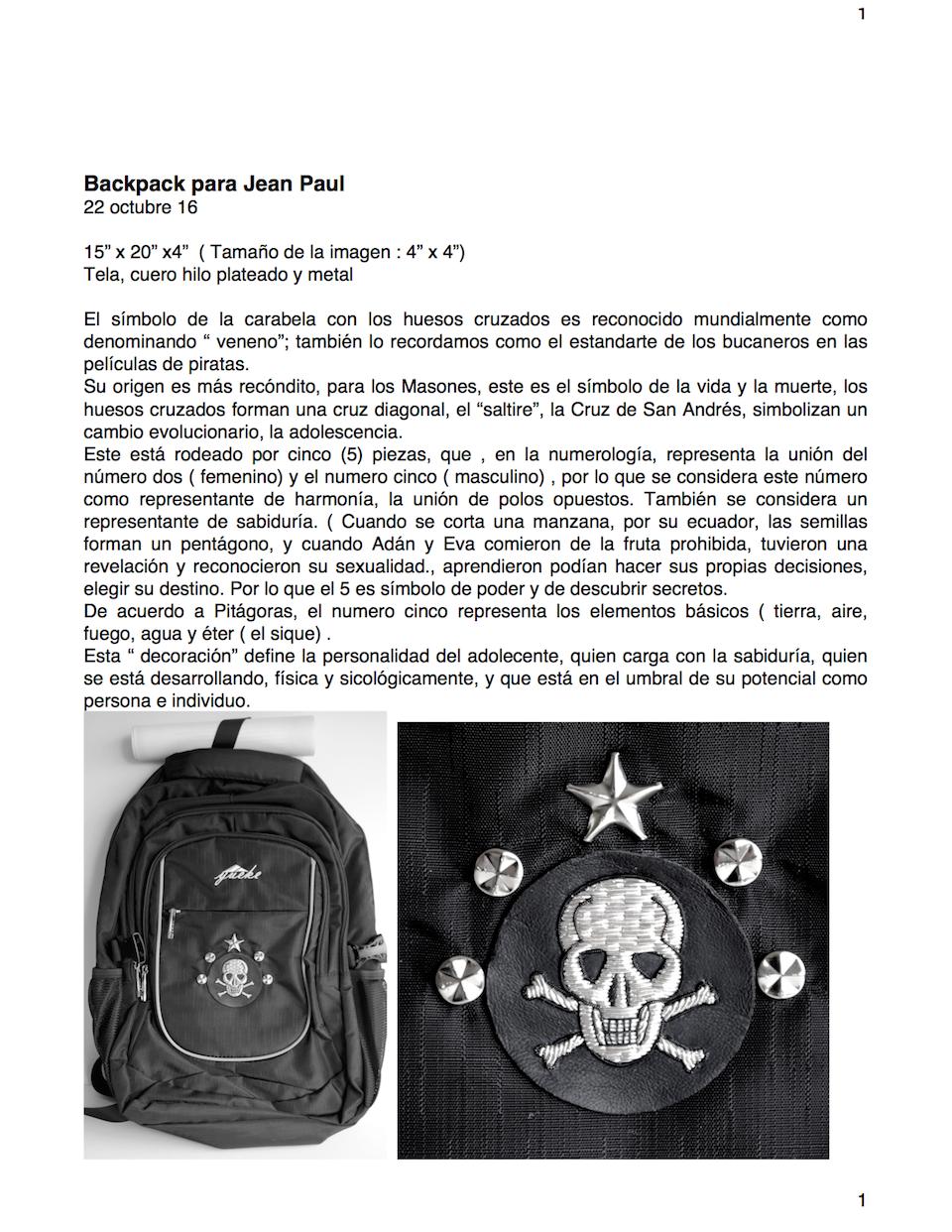 Backpack Ficha Técnica