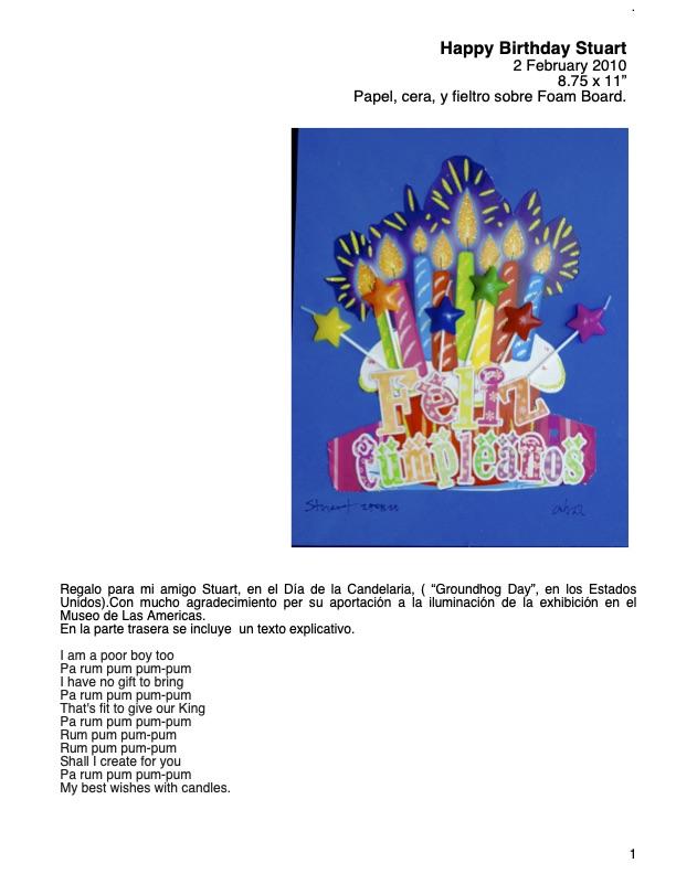 Ficha Técnica _Happy Birthday Stuart_