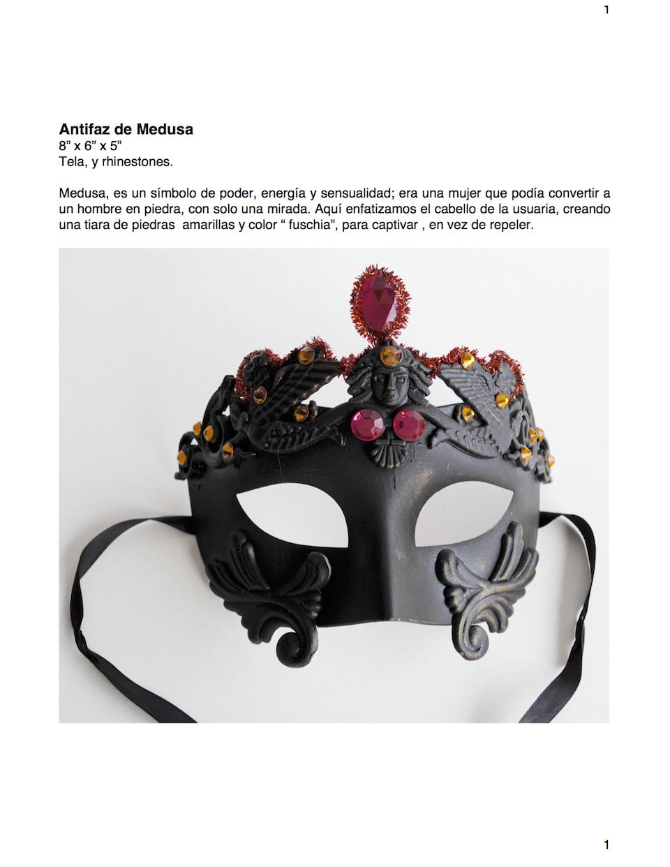 Antifaz Medusa, Ficha Técnica